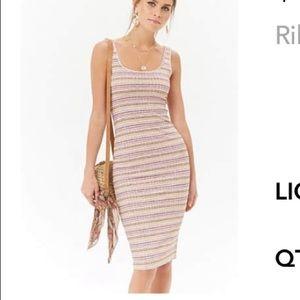 Ribbed body-con dress